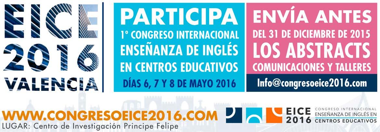 bannercongresoeice 1170x408 - EICE 2016-Valencia I Congreso Internacional de Enseñanza de Inglés en Centros Educativos