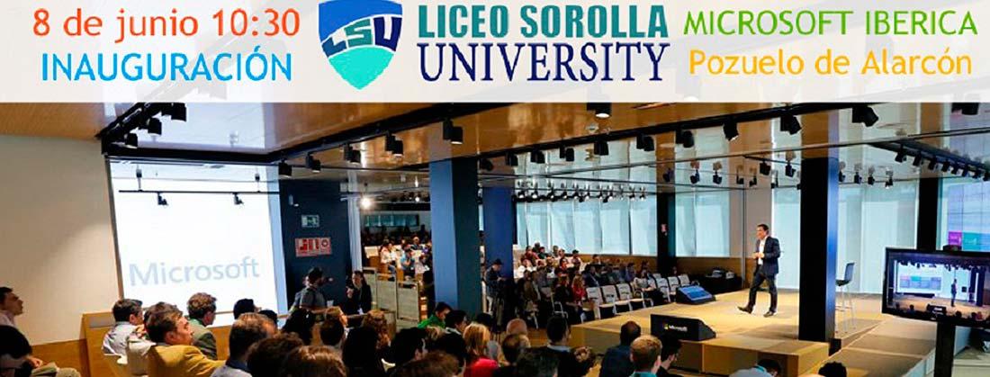 sorollauniversity 1100x419 - Alumnos de bachillerato consiguen sus primeras prácticas empresariales en la I edición de Liceo Sorolla University