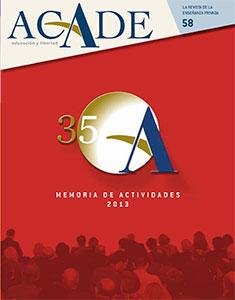 portada revista acade 58 - Ediciones de la revista ACADE