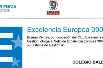 El colegio Balder obtiene 300+ puntos en la certificación de Calidad EFQM