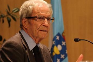 El jurista internacional Antonio Garrigues inauguró el curso en el colegio Peleteiro