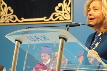 La fiscal general del Estado presidio la apertura del curso en la Universidad Alfonso X el Sabio de Madrid