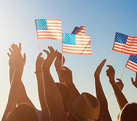 IP banderas usa manos sol - Home