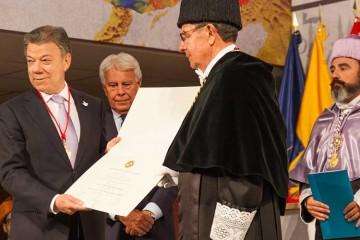 El presidente de Colombia reconocido doctor honoris causa por la universidad Alfonso X el Sabio