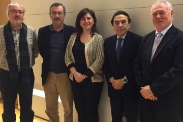 El presidente de ACADE se reúne con los portavoces del PSOE en la Comisión de Educación en el Congreso de los Diputados