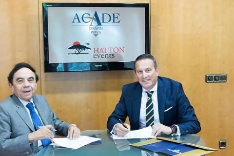 Firma Convenio Hatton web 480x320 - Hatton Events consolida su alianza con ACADE
