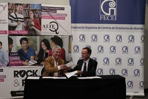 acuerdo Fecei trinity web 480x320 - FECEI y Trinity College London firman un acuerdo para promocionar el aprendizaje y la evaluación del inglés