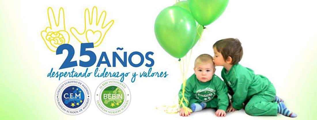 imagen noticia 25 aniversario bebin - El Colegio Europeo de Madrid y Bebín celebran mercadillo solidario