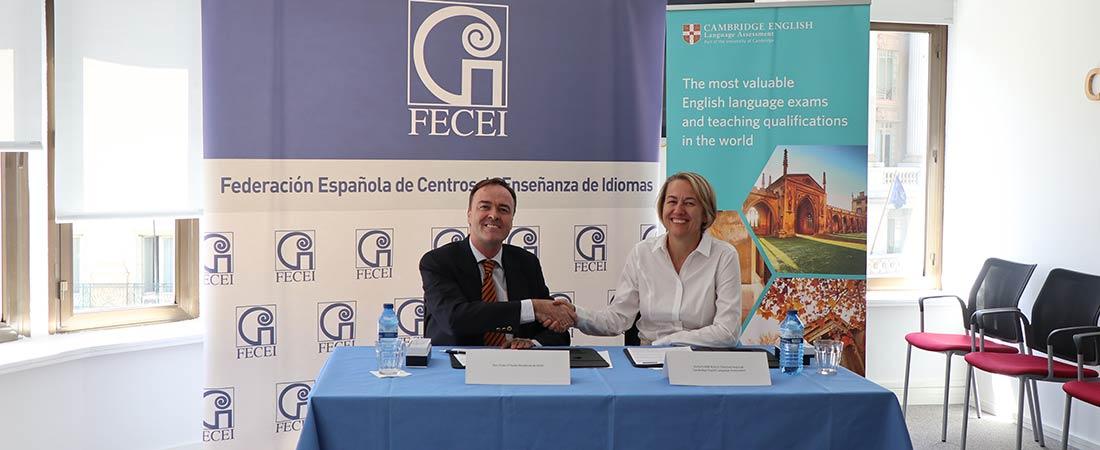 Fecei cambridge - FECEI y Cambridge English formalizan un marco de colaboración para asesorar en esta certificación a los centros asociados