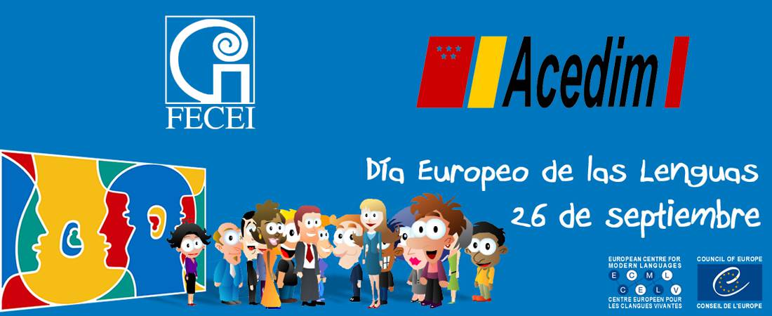 logo fecei acedim dia de las lenguas 2017 - FECEI inscrita en la la Oficina Española de Patentes y Marcas