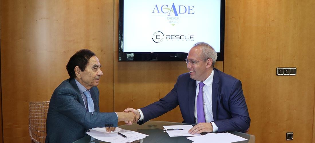 acuerdo e rescue - La tecnología E-Rescue para el rescate seguro de heridos en accidentes de autocares se incorpora a ACADE