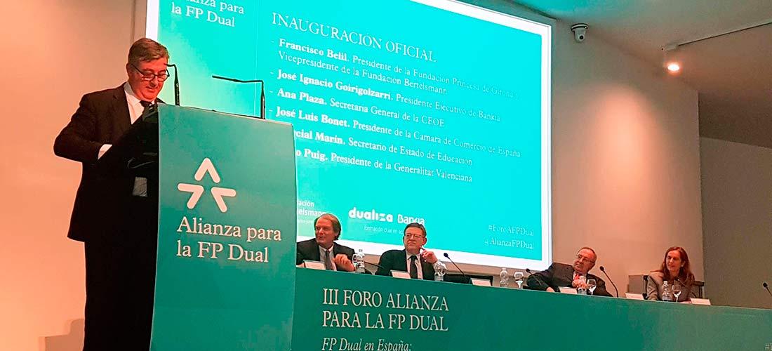 Marcial Marin FP Dual web - Los ministerios de Educación y Empleo, CEOE y la Cámara de España firmarán un convenio para el desarrollo de la Formación Profesional