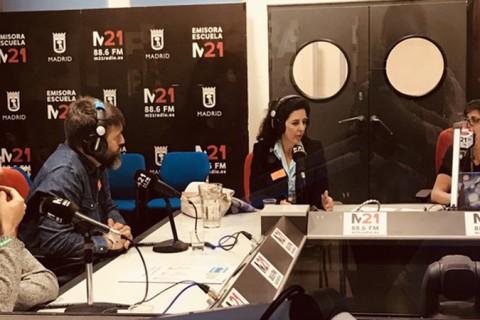 Marta del Pozo en Radio M21web 480x320 - Colegio Base habla de neuroeducación en Radio M21 de Madrid