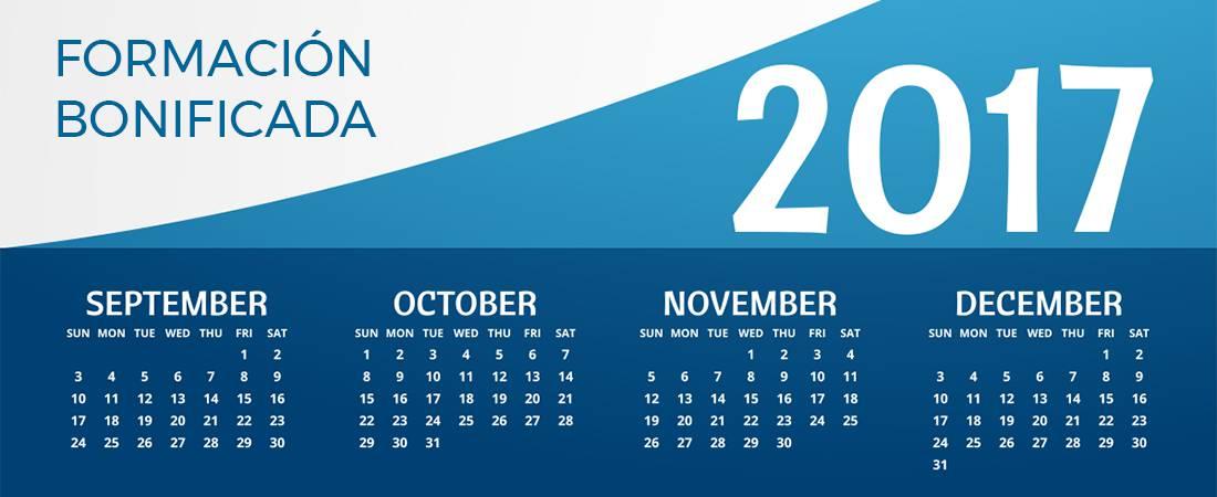 calendario formacion bonificada 2017