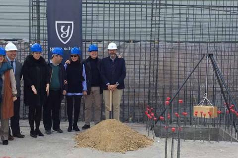 actoprimerapiedraYagoSchool2 480x320 - Yago School pone la primera piedra de un nuevo edificio de oficinas