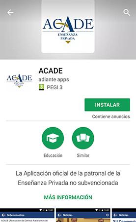 captura app acade - App ACADE