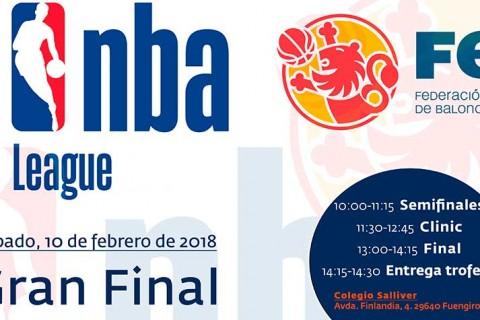 cartel final Malaga CB Salliver eventoNBA  480x320 - El equipo de baloncesto del colegio Salliver jugará este sábado para alzarse con el Anillo de la Final Four de la Liga Junior NBA