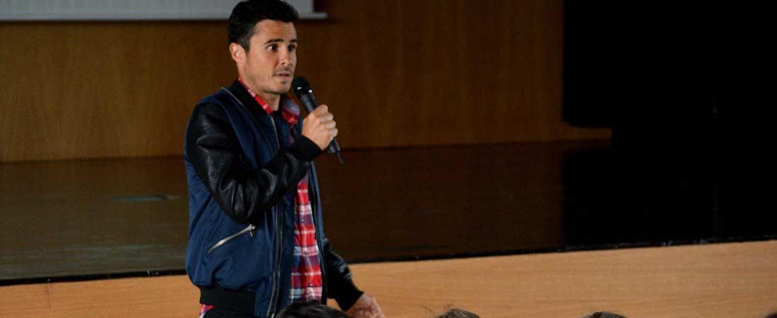 Javier Gomez Noya Peleteiro - El triatleta campeón del mundo Javier Gómez Noya visita Peleteiro