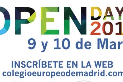 PUERTAS ABIERTAS colegio europeo 480x320 - El colegio Europeo de Madrid y la Escuela Infantil BEBIN celebran su jornada de puertas abiertas