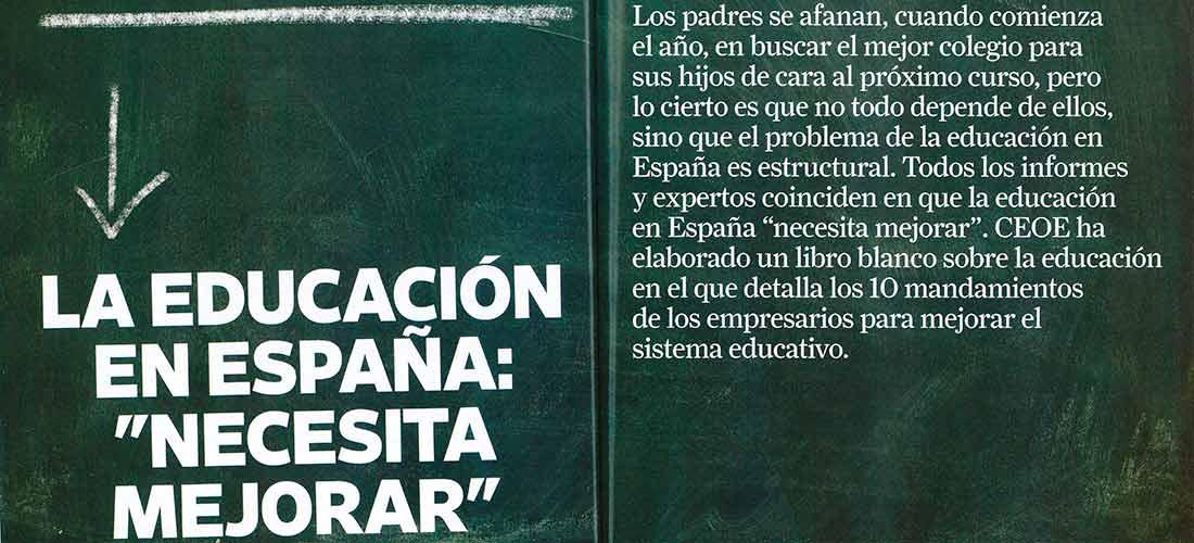 revista ceoe - La educación importa