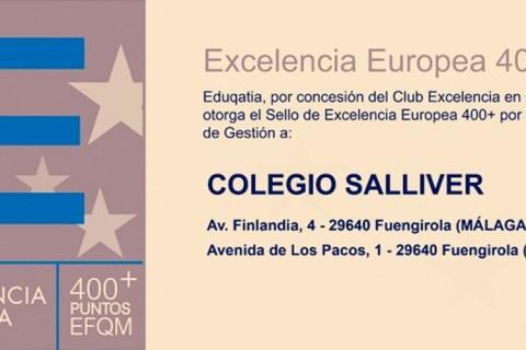 IN EFQM 400 Salliver 480x320 - El colegio Salliver recibe el sello de excelencia EFQM 400+