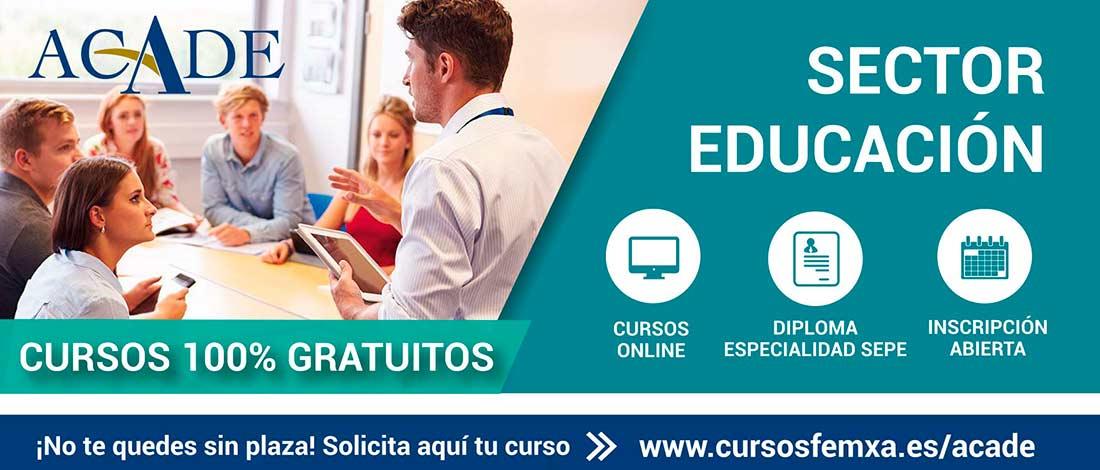 Cartel Educación ACADE 3 - Cursos gratuitos para profesionales del sector educativo