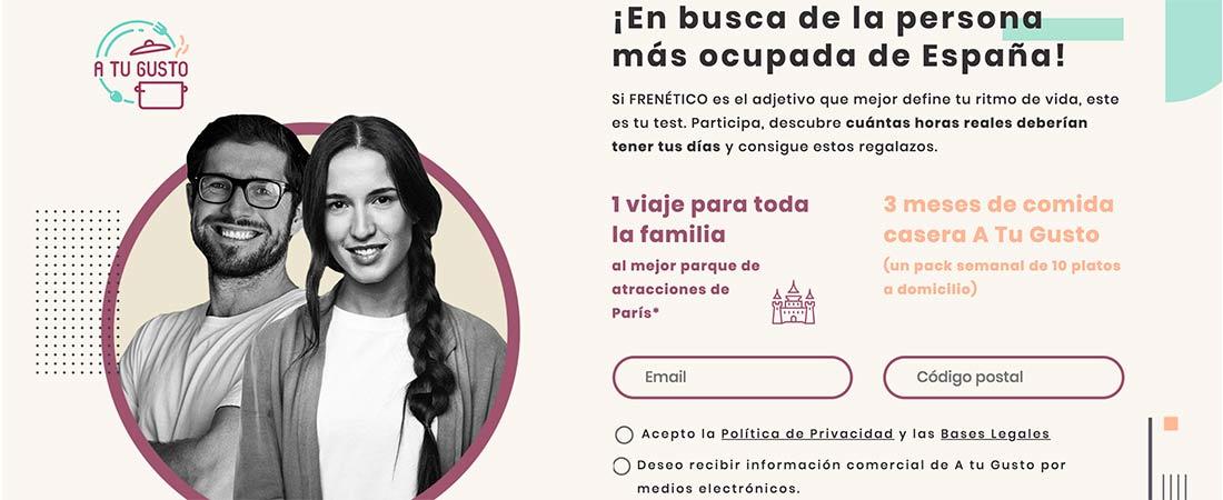 Landing PersonaMasOcupada - Una web busca a la persona con menos tiempo de España