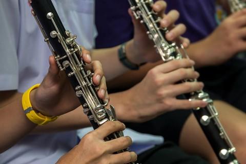 clarinetistas 480x320 - Invitación al Concierto Didáctico Música&Milicia