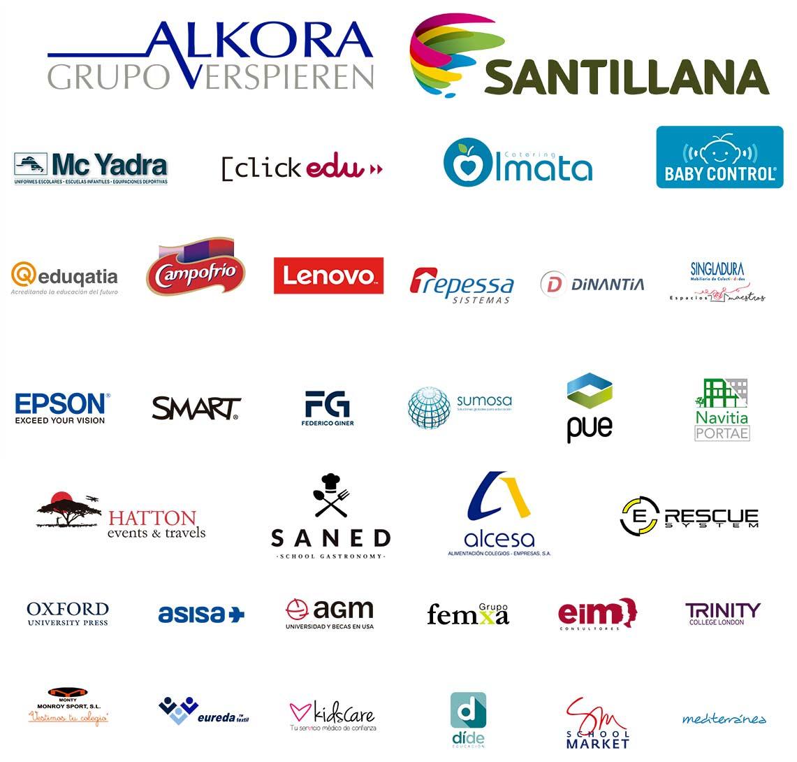 logos patrocinadores convencion - La Enseñanza en el Tercer Milenio en la XIII Convención de Centros y Escuelas Infantiles de ACADE