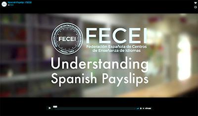 Video fecei - FECEI edita un vídeo en inglés para ayudar a sus profesores a entender las nóminas españolas