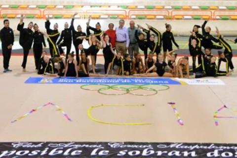 donacion ayuntamiento club arenas corzas 480x320 - El ayuntamiento de San Bartolomé apoya al club de gimnasia Arenas Corzas, patrocinado por el Colegio Arenas Sur