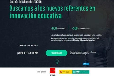 IN segundos premios inovacion educativa 480x320 - Más de 200 centros educativos de toda España presentan sus candidaturas a los II Premios de Innovación Educativa