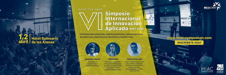 BANNER VI Simposio Internacional IMAT2019 - Inscripción a la I Jornada #AcadeducaLAB Comunidad Valenciana