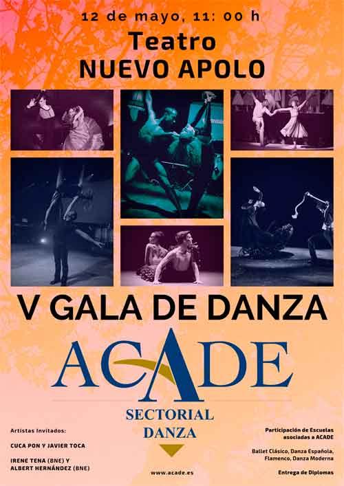 CARTEL V GALA DANZA ACADE web - Este domingo 12 de mayo tienes una cita en la V Gala de Danza de ACADE