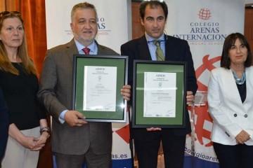 Los colegios Arenas reciben la Certificación AENOR de Gestión Medioambiental ISO 14001