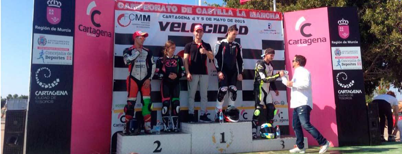 mototeam podio - Florida Universitària se impone en la primera carrera del campeonato nacional de motociclismo universitario
