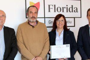 Florida Centre de Formació recibió el diploma Bonus de Umivale por la baja siniestralidad