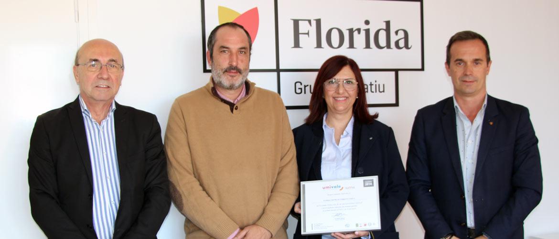 florida - Florida Centre de Formació recibió el diploma Bonus de Umivale por la baja siniestralidad