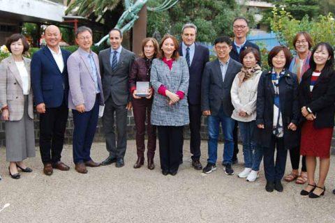 grupo Corea visita Liceo 480x320 - Acuerdo de colaboración entre el Comité de Educación de Seúl y Liceo Europa