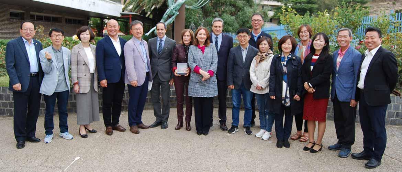 grupo Corea visita Liceo - Acuerdo de colaboración entre el Comité de Educación de Seúl y Liceo Europa