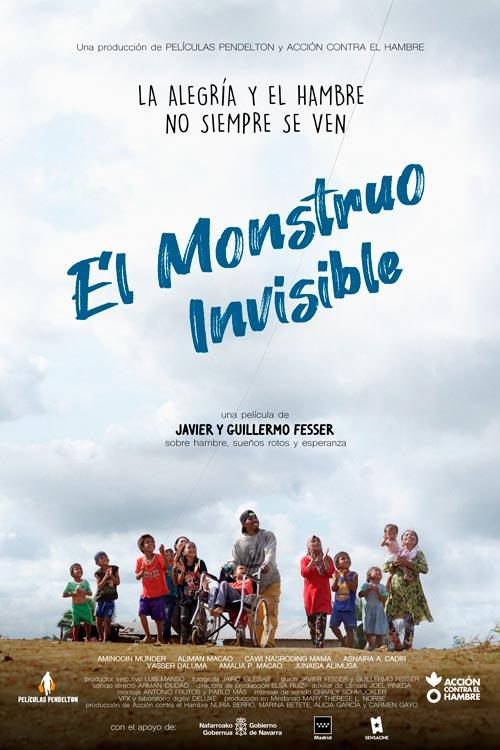 CARTEL MONSTRUO VF 1 - El Monstruo Invisible, la película de los hermanos Fesser sobre el hambre infantil, en primicia en centros de ACADE gracias a la Carrera contra el Hambre