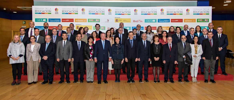 Recepci¢n Ministros Semana Educaci¢n 017 - El presidente de ACADE participa en la inauguración de la Semana de la Educación