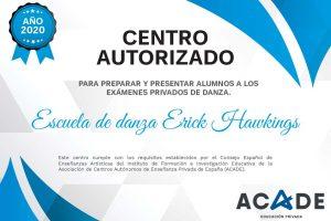 Certificados de pertenencia a ACADE de las escuelas de danza para 2020