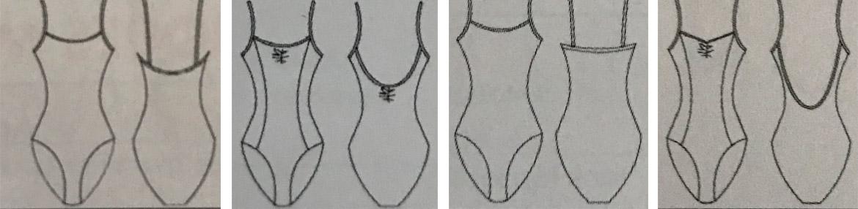 modelos maillots - Exámenes privados de danza de ACADE