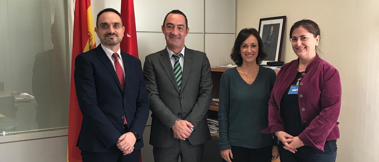 reunion fp madrid - ACADE se reúne con el director general de Educación Concertada, Becas y Ayudas de Madrid