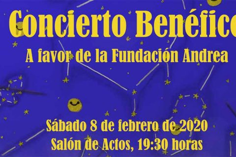 cartel concierto 480x320 - Concierto benéfico a favor de la Fundación Andrea en el Colegio M. Peleteiro