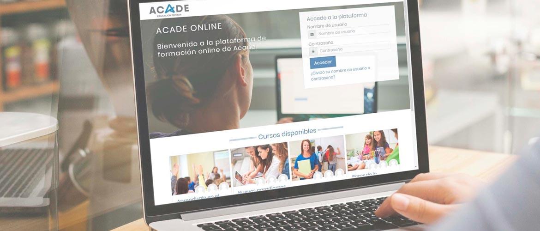 acade online - ACADE ONLINE la nueva plataforma para tu teleformación